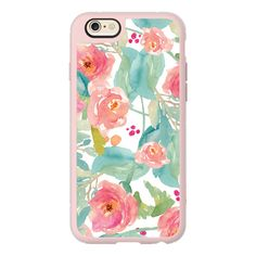 iPhone 6 Plus/6/5/5s/5c Case - Wild Watercolor Flower Iphone Case (52 CAD) ❤ liked on Polyvore featuring accessories, tech accessories, phone cases, iphone case, iphone sleeve case, iphone cover case, iphone hard cases and apple iphone cases