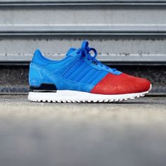 sneakerfiles's photo: Check out the new release of the Adidas ZX700 (Blue/Red) up now at SneakerFiles.com #SneakerFiles