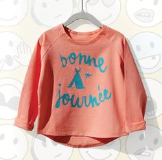 Bonne Journee Top for girls 1-5. Cool alternative kids fashion, play ready style at Color Me WHIMSY.
