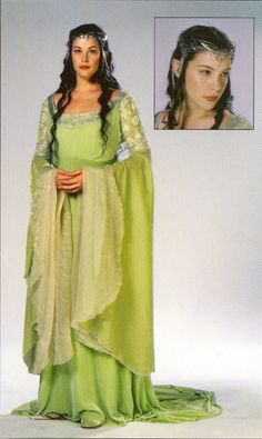The springtime green gown Arwen wears in her final scene in The Lord of the Rings trilogy. @My Kids Drawers