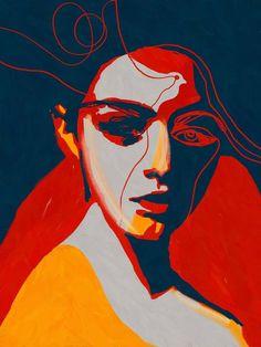 Portrait Colors VIII Painting