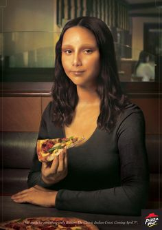 Pizza Hut, Classic Italian - Mona Lisa by Gavin Simpson, via Behance