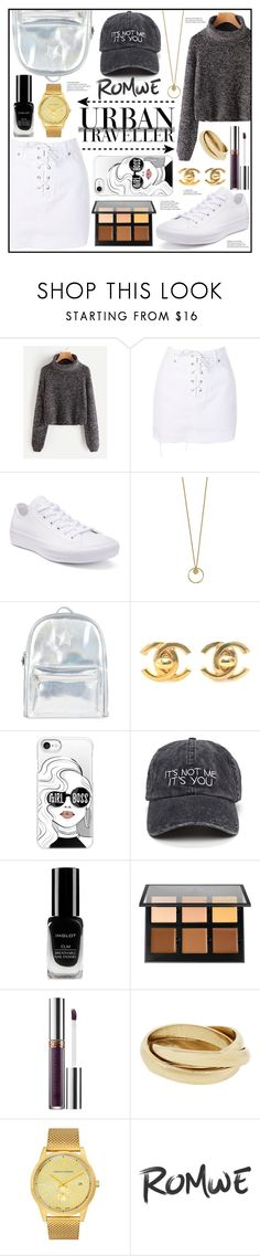 """""""The Urban Traveller"""" by piloariass on Polyvore featuring moda, Topshop, Converse, Accessorize, Chanel, Casetify, Inglot, Anastasia Beverly Hills y Larsson & Jennings"""
