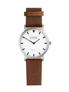 Poole Watch With Light Brown Leather Strap