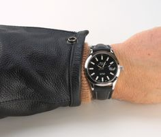 black dial Ball Marvelight on a Di-Modell strap