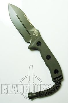 Microtech Crosshair Green Double Edge Knife (Green, P/S) 104-2