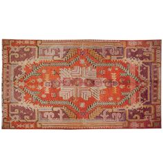Brilliant Early 20th Century Khotan Rug | From a unique collection of antique and modern central asian rugs at http://www.1stdibs.com/furniture/rugs-carpets/central-asian-rugs/