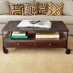 W2328 French Industrial Coffee Table Coffee Tables