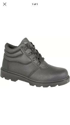 Grafters Safety Boots Unisex Womens Size 6 Leather Oil Resistant Still Toe Cap Ladies Clothes, Clothes For Sale, All Black Sneakers, Safety, Toe, Unisex, Best Deals, Lady, Boots