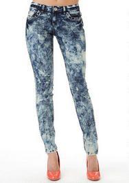 Karma Blue Acid Wash Skinny Jean