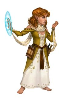 Female Gnome Psychic - Pathfinder PFRPG DND D&D 3.5 5th ed d20 fantasy