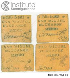 First paper money made in San Miguel de Allende, Gto. Gto, Things To Think About, Folk, Mexico, Money, Paper, Vintage, Ideas, Santos