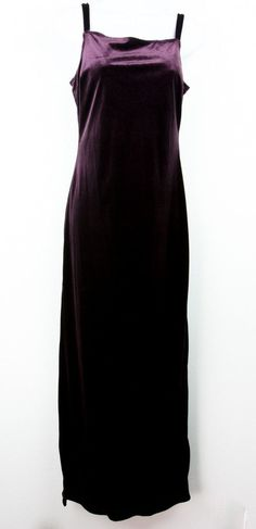 Vintage Rampage Burgundy Velvet Spaghetti Strap Long Maxi Dress S/M  #witch #goth #witchy #occultgirl #metalhead #witchygirl #oi #metalbabe #rave #gothrock