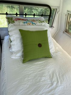 Wrought Iron Beds, Camper, Bed Pillows, Pillow Cases, Vintage, Home, Pillows, Caravan, Travel Trailers