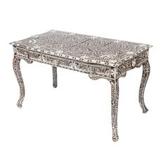 Mother of Pearl Inlay Desk - $1,800 Est. Retail - $720 on Chairish.com