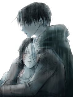 Levi and Eren || http://www.pixiv.com/users/3670922 [please do not remove this caption with the source]