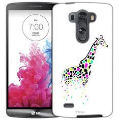 LG G3 Giraffe Black Pink Green Skin Slim Case
