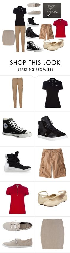 """uniform for school #3"" by jocelyne-j-guzman ❤ liked on Polyvore featuring Voi Jeans, Converse, COSTUME NATIONAL, KRISVANASSCHE, Burberry, Gabriella Rocha, American Apparel, skinny jeans, ballet flats and black"