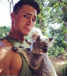 Colton Haynes shows off his pecs and professes his love for ...