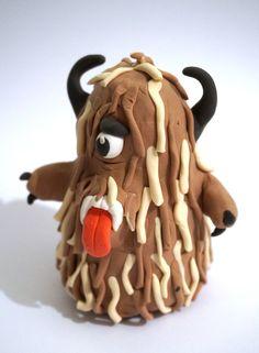 Pluffy klei harig monster, vb 1 GemaaktdoorKalle,10jaar Foto:Sander