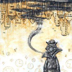 «Por que cada hombre tiene su propio tiempo, y solo mientras siga siendo suyo se mantiene vivo.» Momo, Michael Ende.  Ilustración de Ileana Surducan.