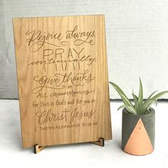 """156 Likes, 16 Comments - Shannan Inman (@paperglazecalligraphy) on Instagram: """"I have three custom wooden plaques for sale (first come first serve). 5x7. Comes with a wooden…"""""""
