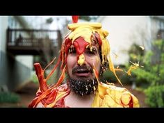 "To help raise awareness about global hunger, YouTubers Steve Kardynal and Alex Negrete filmed themselves being rained down upon by various food like chicken, syrup, ketchup and cereal. According to them, they will be donating ""a large portion of the profits"" they receive from the videos to Action Against Hunger, a global humanitarian organization committed to ending world hunger. #FoodWaste"