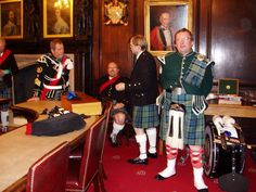 Sitting in The Mayor's Parlour, Durham Town Hall with some of the band. 2015