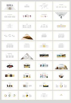Rhea PowerPoint Template by SlideStation on @creativemarket