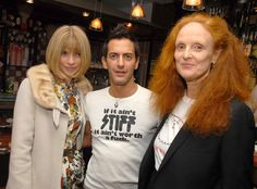 Marc Jacobs's 50th Birthday: Marc Jacobs with Anna Wintour and Grace Coddington in 2006.