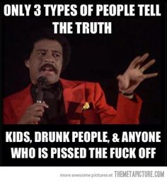 People who tell the truth…