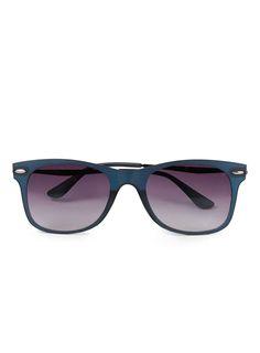 Navy Thin 50'S Classic Sunglasses