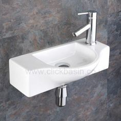 Viterbo Space Saving Wall Mounted 44cm X 24.5cm Hand Sink Basin