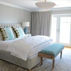 Gray Bedrooms Ideas, Contemporary, bedroom, D2 Interieurs
