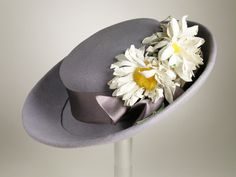 1939, America - Woman's Sailor Hat by Sally Victor - Wool felt, satin ribbon