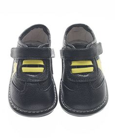 Another great find on #zulily! Black & Yellow Star Shoe by Jack & Lily #zulilyfinds
