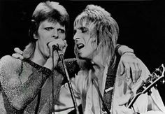 David Bowie & Mick Ronson (Mick would have been 68 today - 5/25/14) Happy Birthday!