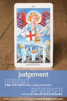 "Major Arcana Card ""Judgement"" #tarotcardmeaning learn more at http://www.biddytarot.com/tarot-card-meanings/major-arcana/judgement/"