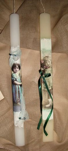 (make this idea into book marks) Decoupage easter candles Decoupage, Baptism Candle, Easter 2015, Greek Easter, Candle Art, Easter Season, Palm Sunday, Hoppy Easter, Easter Crafts