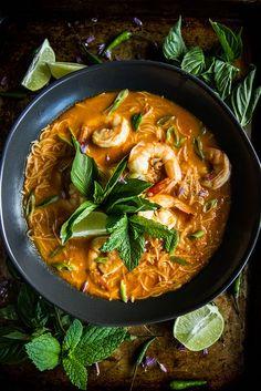 Red Curry Shrimp Laksa