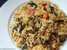 Happy New Year- Palak Pulao( Spicy Greens Rice)