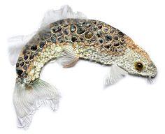 Textile artist Karen Nicol thames traveller ejpg Karen Nicol interview: The versatility of textiles Fabric Fish, Fabric Art, Fabric Design, Textile Fiber Art, Textile Artists, Inchies, Fish Design, Fish Art, Soft Sculpture