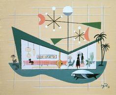 El Gato Gomez - Mid-Century Modern Inspired Works