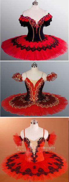 red tutus decorated with black tutu.com