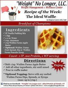 """Waffles?... On Phase 1?! Check Out Our """"Ideal Waffle""""  - Ideal Protein"""