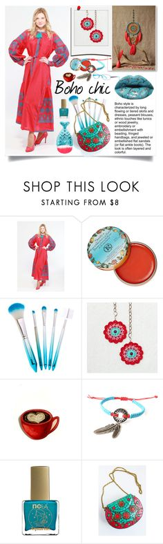 """""""Boho chic"""" by crochetnecklaces ❤ liked on Polyvore featuring Rosebud Perfume Co., Polaroid, ncLA and Boohoo"""