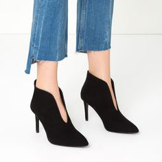 HIGH HEEL ANKLE BOOTS WITH V - CUT UPPER-View all-SHOES-WOMAN | ZARA United States