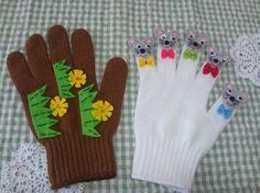 ♫ 1ぴきの~のねずみが~あなぐらに~落っこちて~ちゅっちゅ、ちゅっちゅ、ちゅっちゅ、ちゅっちゅ、おおさわぎ~♪ハンドメイド品です。フェルトで制作した手遊び歌を楽しく演出するグッズ☆手袋です。。小さなお子さんのいるお母さまや、幼稚園の先生、保育士さん、幼児教育を学ばれている学生の方、いかがですか?のねずみの目は縫い付けるタイプのプラスチックの動く目です。表情があって とってもかわいらしいです。詳�%8