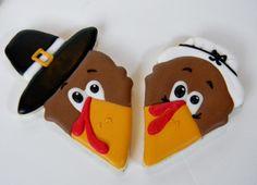Sweet Melissa's Cookies: Happy Thanksgiving: Pilgrim Turkey Faces