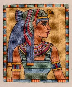 Advanced Embroidery Designs - Queen Cleopatra.